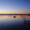 印旛沼・朝景 - フォトジェニックな小舟 -
