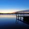 印旛沼・朝景 - 桟橋と雲の交点 -