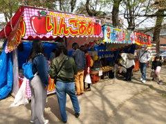 桜祭りの露店