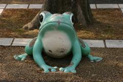 蛙で有名な春日井市