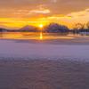 桧原湖の日の出②