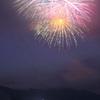 八幡城の夜空に