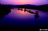 山口県山口市 椹野川(ふしのがわ)の夕景