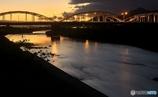 佐波川の夕景