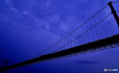 つり橋につられてカシャる。