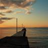 冬の夕景桟橋(その6)