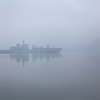 霧の中の雄姿