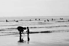 11月の海辺にて