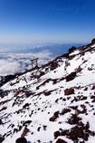降雪の斜面