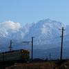 剣岳と、かぼちゃ電車