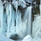 The waterfall of an icicle