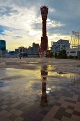 雨上がり神戸タワー
