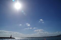 穏やかな海岸
