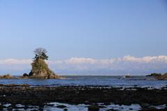 女岩と立山連峰