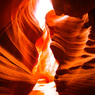 Several Red Lays in Antelope Canyon