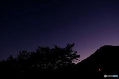 星景:日没後50分くらい