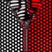 赤と白のグラス