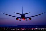 黄昏の飛行場