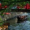 たらい船と、大垣船町川湊