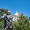大垣城と騎馬像