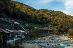 変わらぬ秋の川
