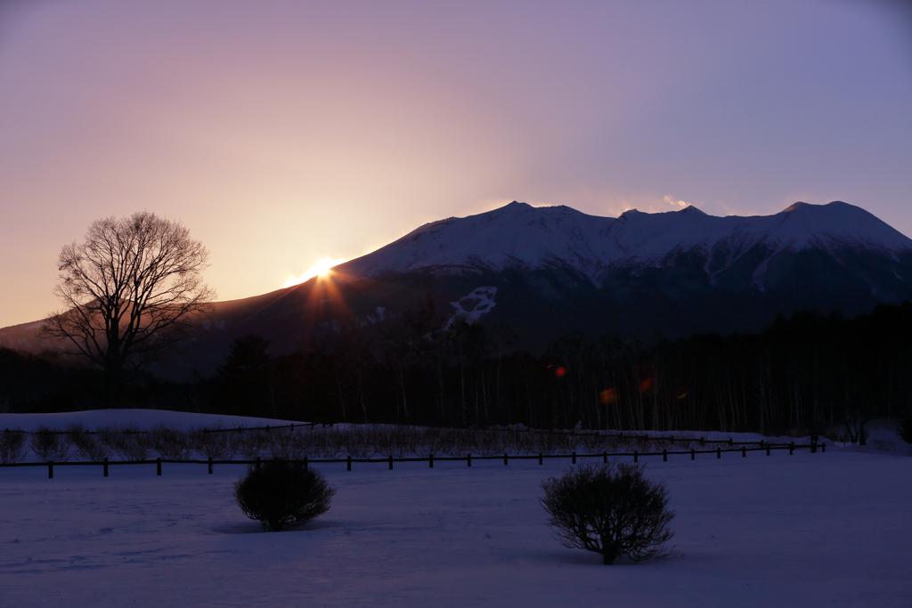 御嶽の日暮れ