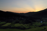 棚田の夜明け