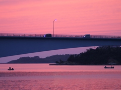 天草五橋の夕景
