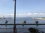 海辺のテラス席