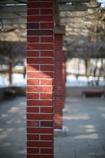 レンガの柱(^_^)