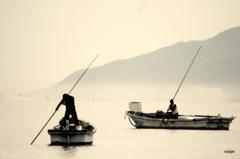 ninjinの松江百景 いつものしじみ漁 宍道湖12