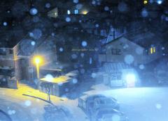 ninjinの松江百景 雪の夜1