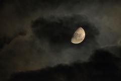 Moon, cloud, Mars
