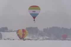雪の中のフライト