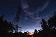 夕暮れの鉄塔