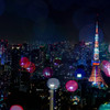 TOKYOTOWER with colorful dot!!