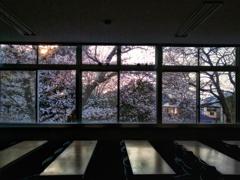 夕方の教室