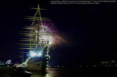 Sailer and fireworks☆