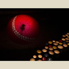 和傘と竹灯篭