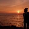 江ノ島からの夕陽