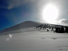雪と空と太陽