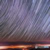 猪臥山に昇る冬の星