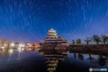 松本城を回る星