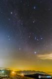八ヶ岳に昇る冬の星