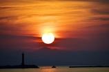 新潟東港の夕暮れ