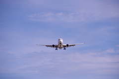 瀬長島で見る飛行機