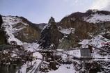 採石場の雪景色