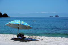神津島の青い海