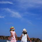 CANON Canon EOS 40Dで撮影した人物(夏休み最後の海)の写真(画像)