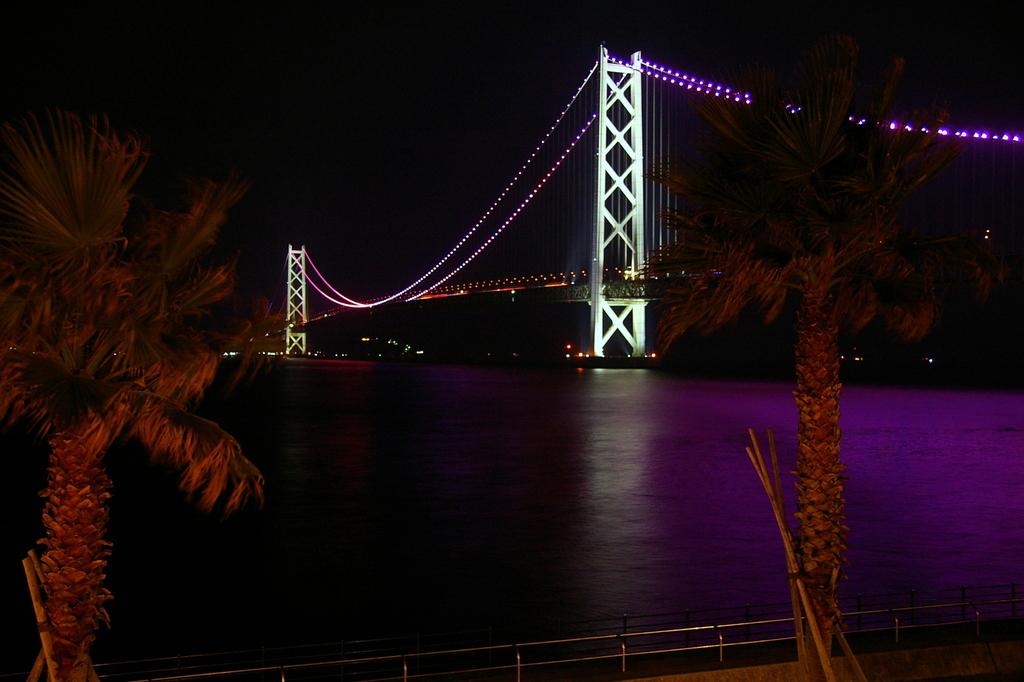明石大橋ライトアップ♫